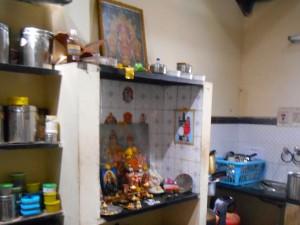altar in the kitchen, Mysore, India
