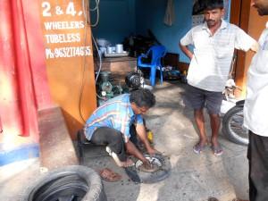 flat tyre repair Mysore